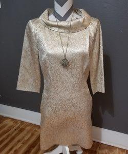 Glamorous, Mad Men/Old Hollywood Gold Dress